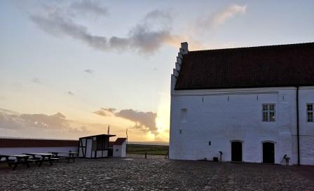 Vistkøl monastery at sunset