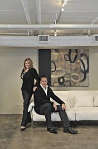 Jeff Osborne and Amanda Harke of Harke   Osborne Interior Design, Boston