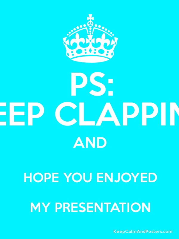Keep Calm And Carry Clapping