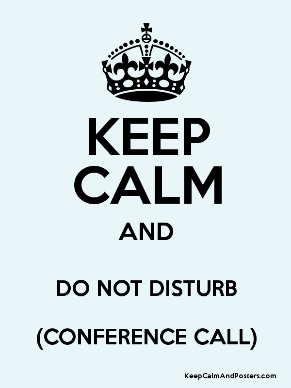 conference-call-informations: KEEP CALM AND DO NOT DISTURB
