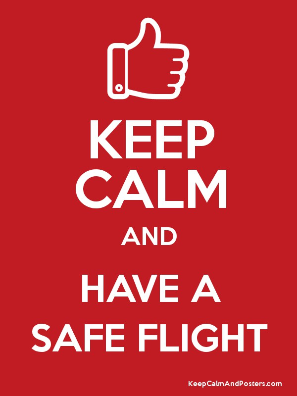 KEEP CALM AND HAVE A SAFE FLIGHT Poster