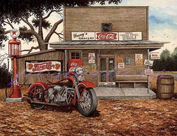 Vintage Motorcycle Art Prints