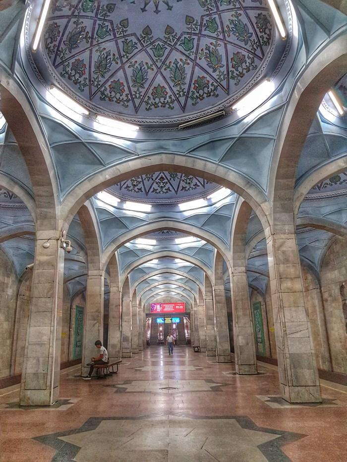 Alisher Navoi metro station, Tashkent Photo by Freda Hughes