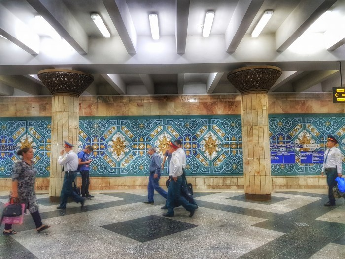 Pakhtakhor metro station, Tashkent Photo by Freda Hughes