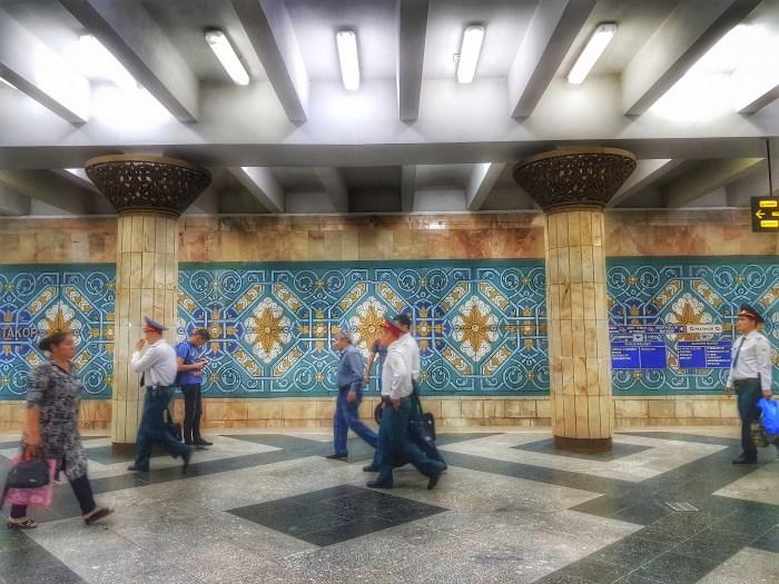 Pakhtakhor metro station, Tashkent Photo by Freda Hughes