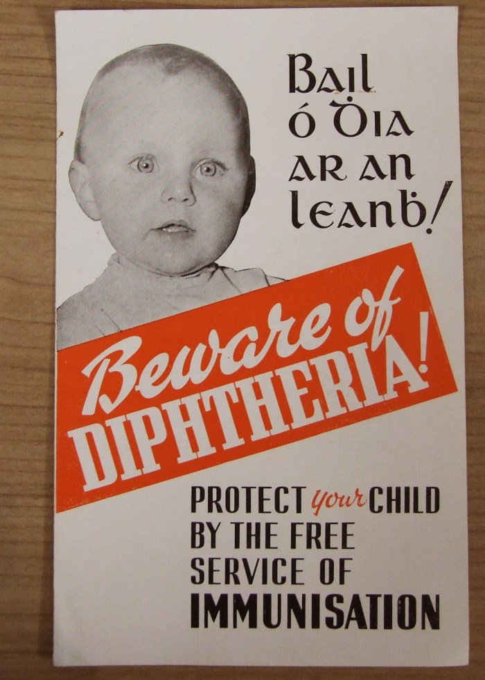 Leaflet promoting a diphtheria immunisation scheme, collected by Dr McSweeney (CSFH/3/1/4/5) from an article by Fergus Brady on the RCPI Heritage Blog