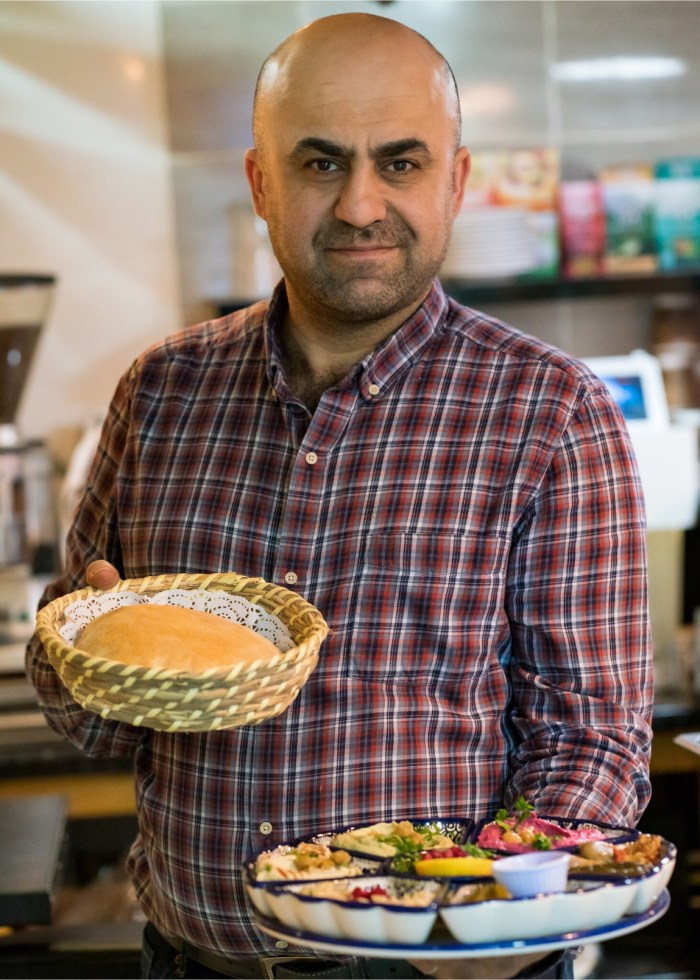 Izz Alkarajeh, owner of Izz Café