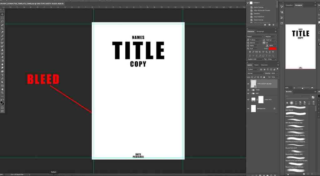 Payoff Photoshop Template