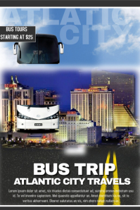 Customizable Design Templates For Bus Trip Flyer PosterMyWall
