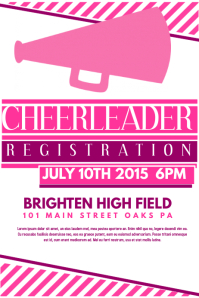 Customizable Design Templates for Cheerleader  PosterMyWall