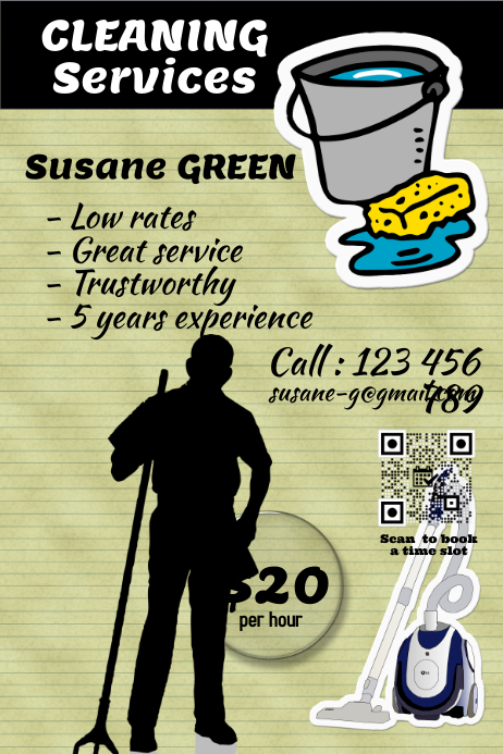 Cleaning Services Flyer And Poster PosterMyWall Template