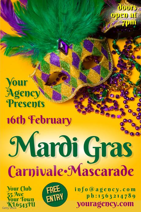 PosterMyWall Mardi Gras