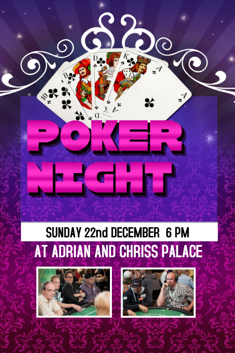 Poker Night Poster Template PosterMyWall