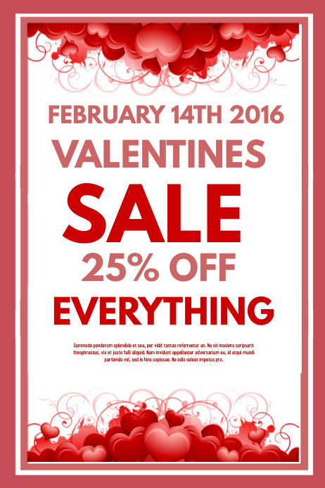 Valentines Sale Template PosterMyWall