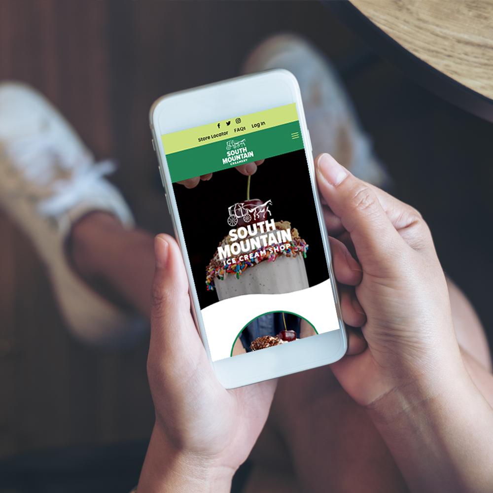 south mountain creamery mobile website