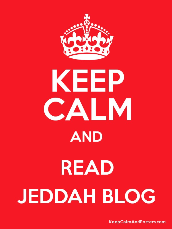 Keep Calm and READ JEDDAH BLOG Poster