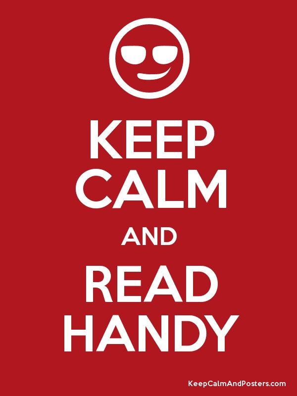 KEEP CALM AND READ HANDY Poster