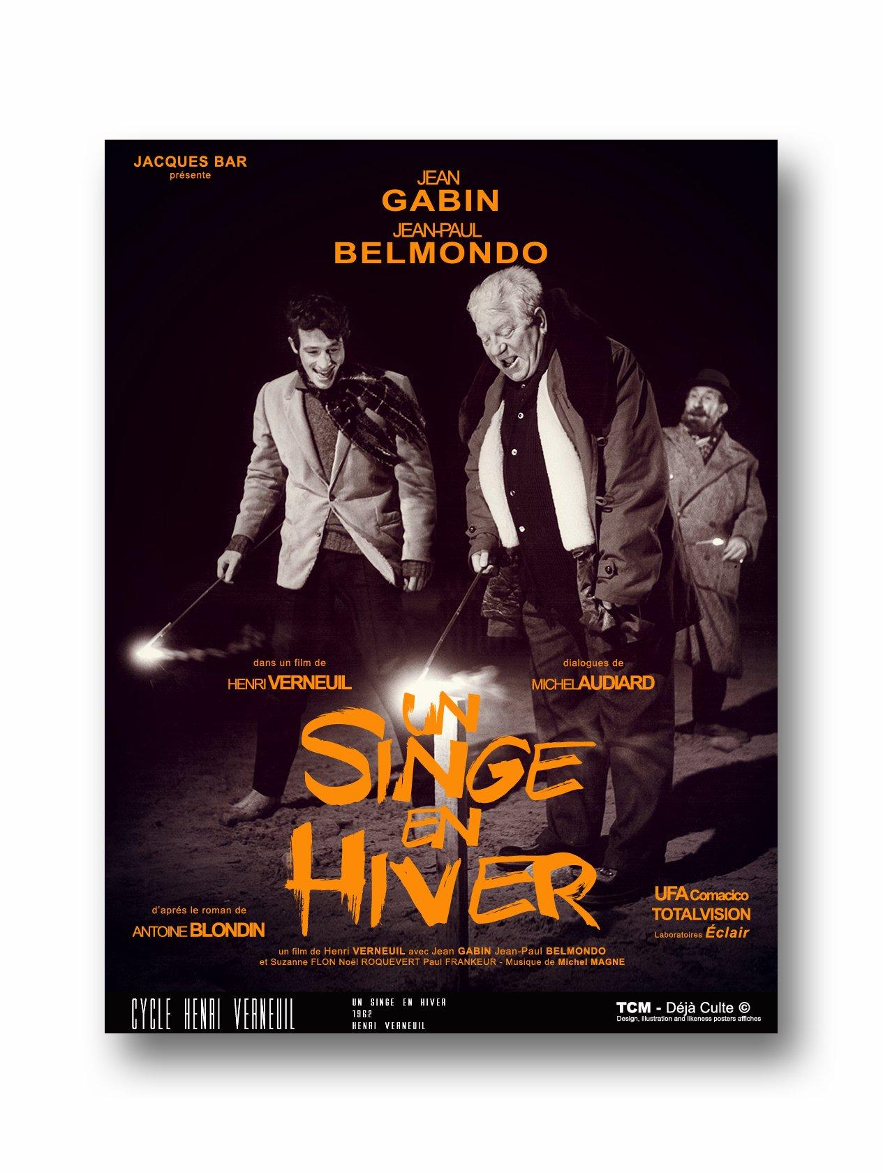 Film Un Singe En Hiver : singe, hiver, SINGE, HIVER, Gabin, Jean-Paul, Belmondo, PosterSpy