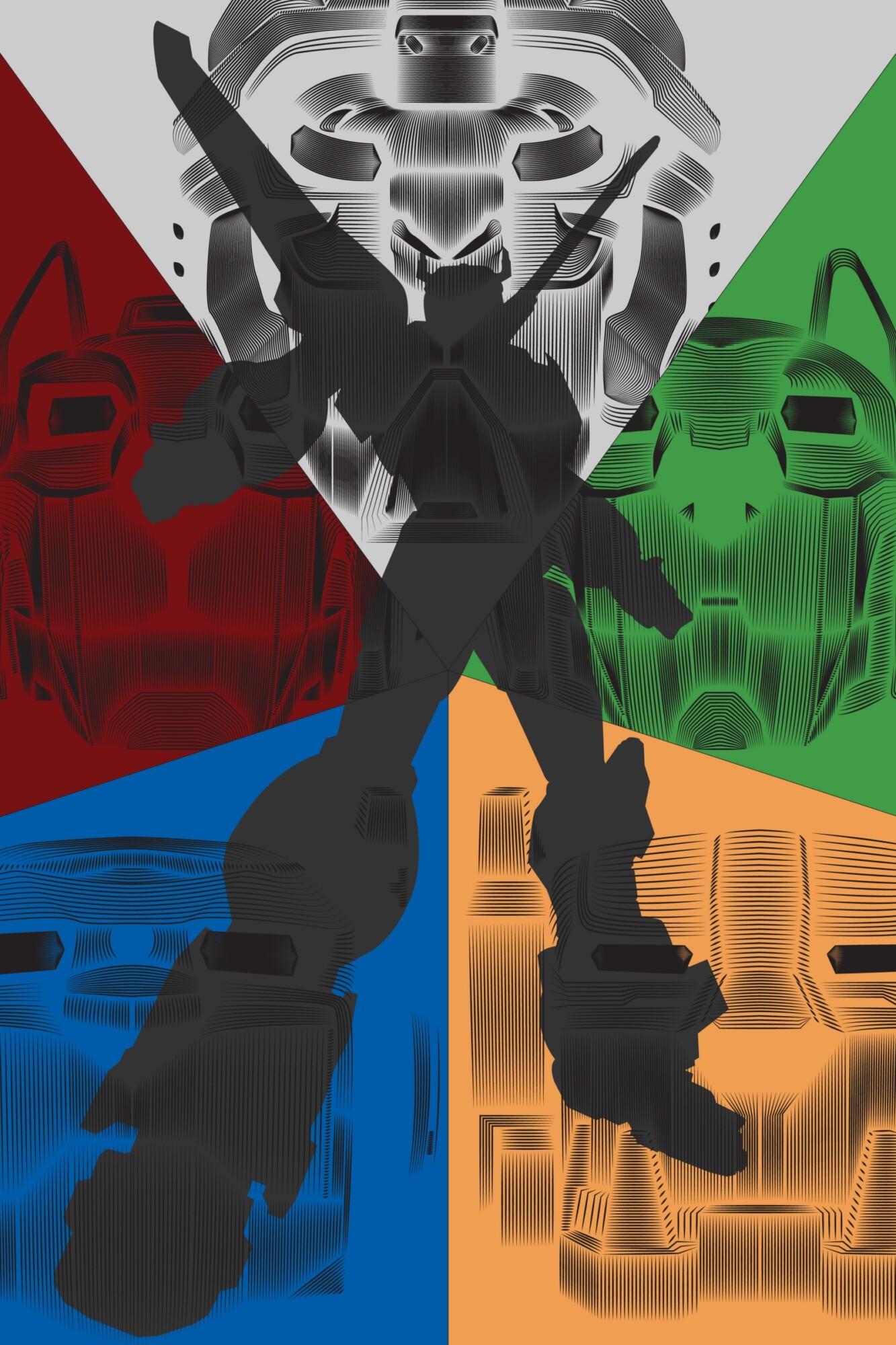 Voltron Legendary Defender Vector Line Poster  PosterSpy