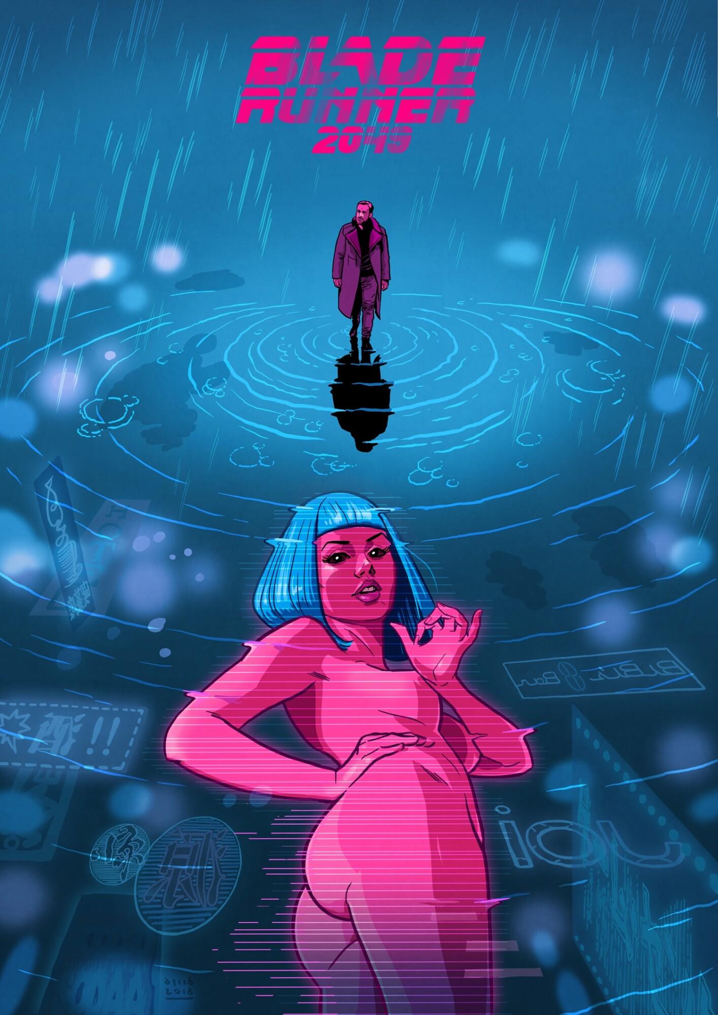 Blade Runner 2049 Hologram Girl Wallpaper Blade Runner 2049 Posterspy