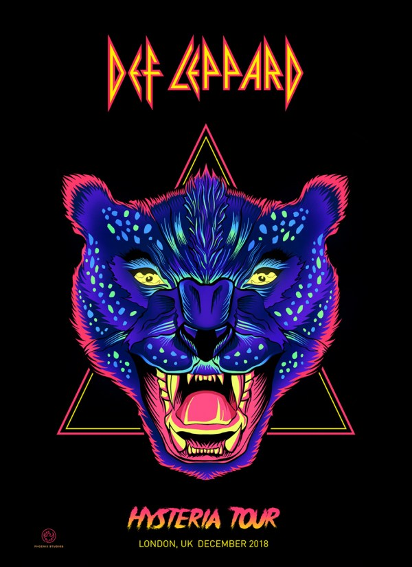 Def Leppard - Hysteria Tour 2019 Posterspy