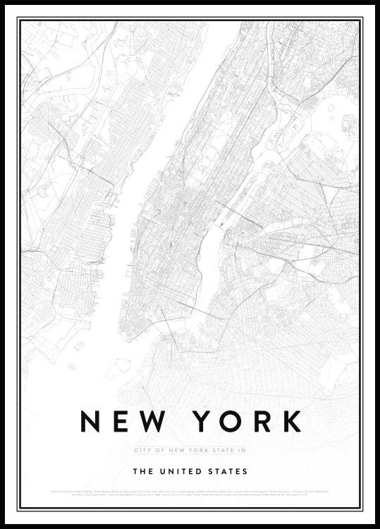 New York City Map Poster : poster, Poster, Print, Posterstore.ca
