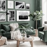 Trendy Black White Gallery Wall Music Posters Instruments Green Interior Black Wooden Frames Gallery Wall Inspiration Posterstore Eu