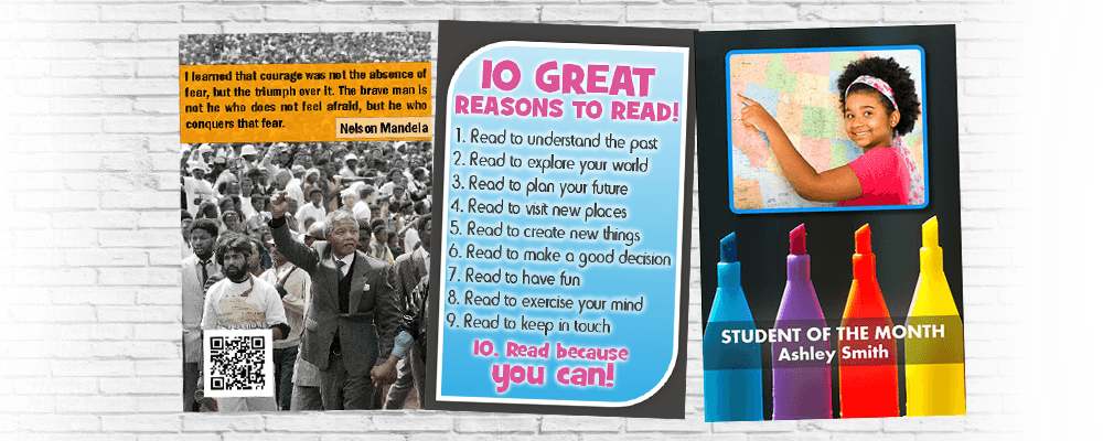 Poster Studio Examples. Student of the month. 10 tips for reading.