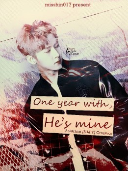 one year with, he's mine soft-dark ver for misshin017 - poster by bmy