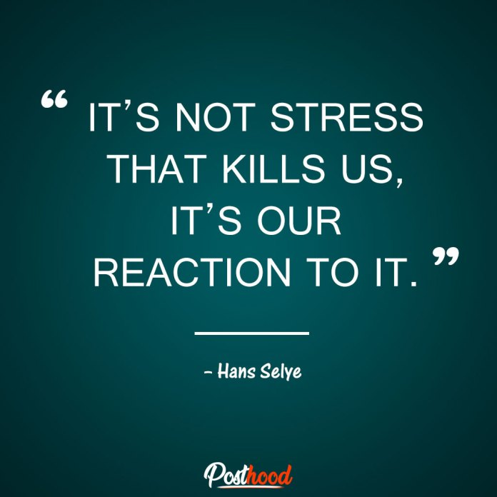 It's not stress that kills us, it's our reaction to it. Quotes to Relieve Stress. Motivational Quotes for stress relief