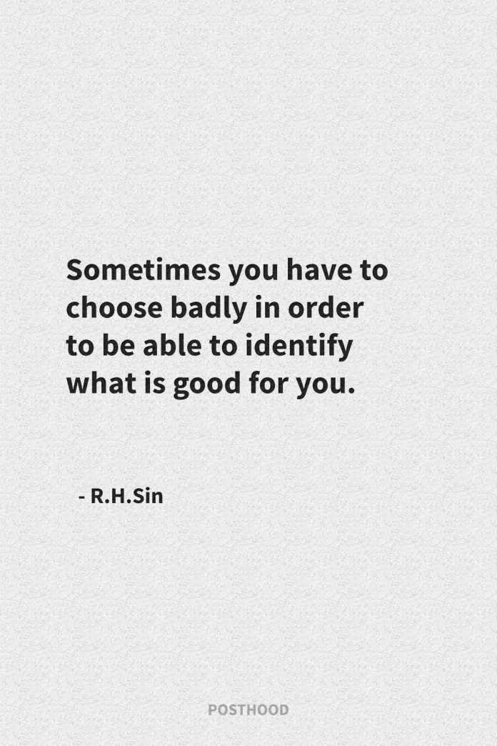 40 R.H.Sin quotes to heal your soul and show you the right path about love, relationship, life, and people. Best self-love boosting quotes for you.