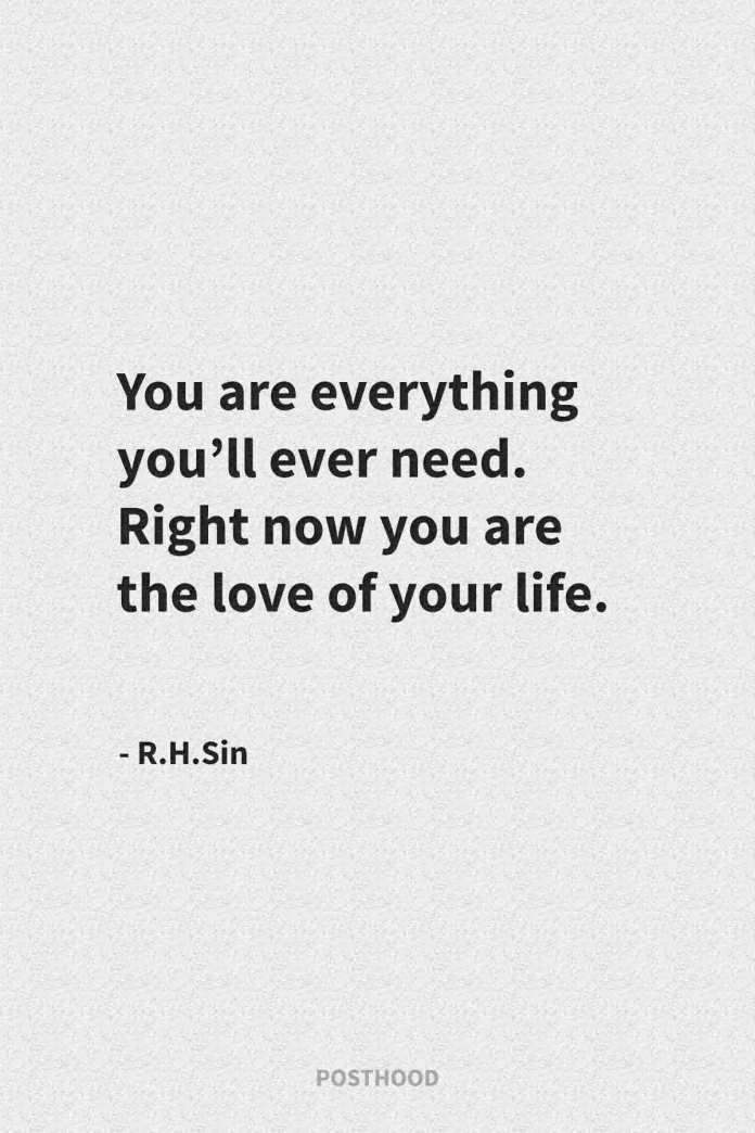 Best inspirational quotes about self-love. Get strength with these powerful R.H.Sin quotes about love and relationship. Best relationship quotes.
