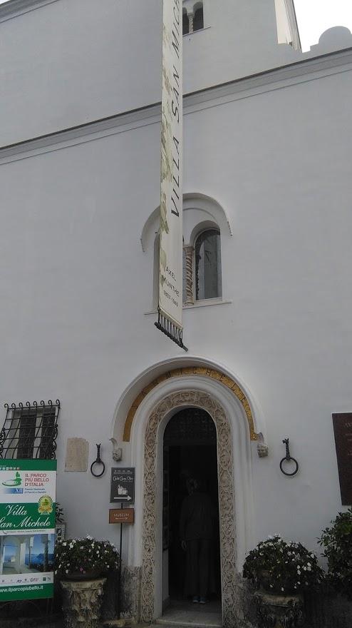 L'ingresso di Villa San Michele