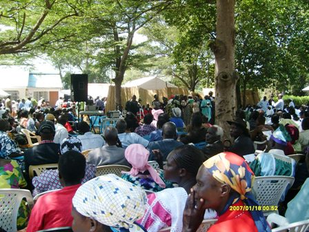 Many people attended