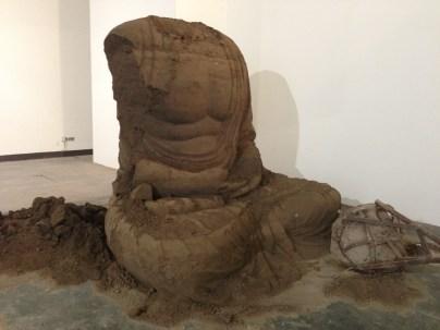 Zhang Huan's ash 'Berlin Buddha' installation