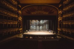 Private tour of the Bolshoi watching the set up for the new season's performance of Paquita by the Opera de Paris corps de ballet
