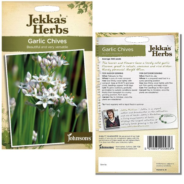 Jekka's Herbs - Garlic Chives Seeds by Johnsons