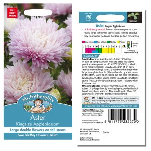 Mr. Fothergill's Seeds - Aster Kingsize Appleblossom