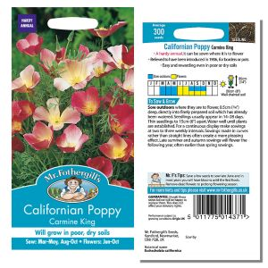Mr. Fothergill's Seeds - Californian Poppy Carmine King