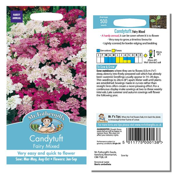 Mr. Fothergill's Seeds - Candytuft Fairy Mixed