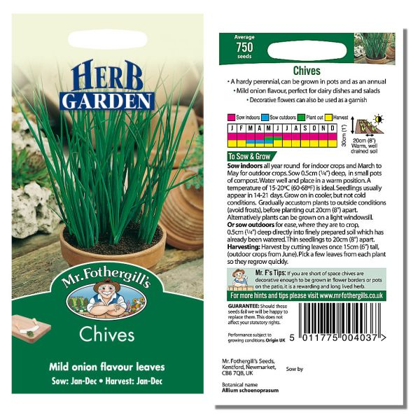 Mr. Fothergill's Seeds - Herb Garden - Chives