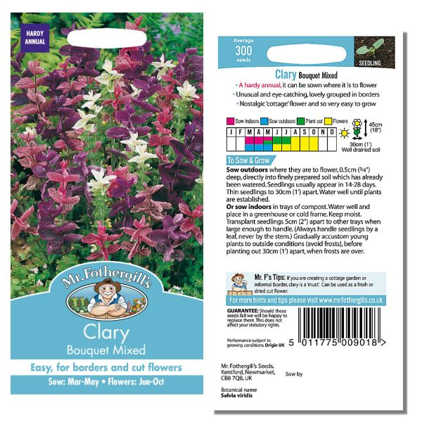 Mr. Fothergill's Seeds - Clary Bouquet Mixed