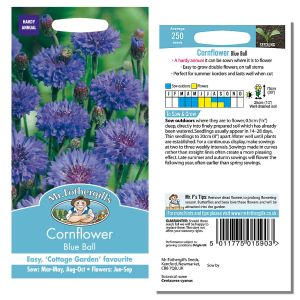 Mr. Fothergill's Seeds - Cornflower Blue Ball
