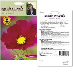 Sarah Raven's Cosmos 'Dazzler' Seeds by Johnsons