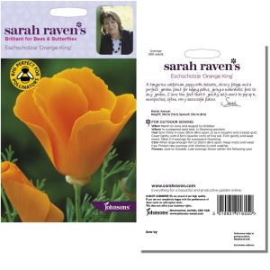 Sarah Raven's Eschscholzia 'Orange King' Seeds by Johnsons