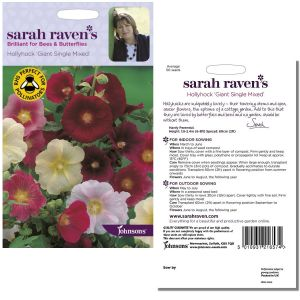 Sarah Raven's Hollyhock Giant Single Mixed Seeds by Johnsons