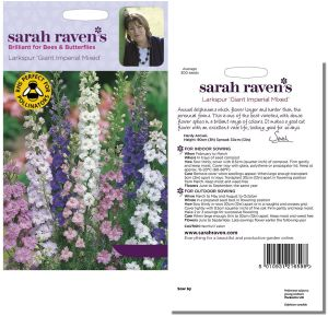 Sarah Raven's Larkspur Giant Imperial Mixed Seeds by Johnsons