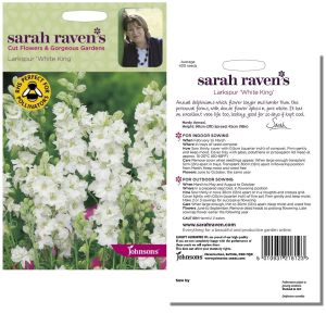 Sarah Raven's Larkspur 'White King' Seeds by Johnsons