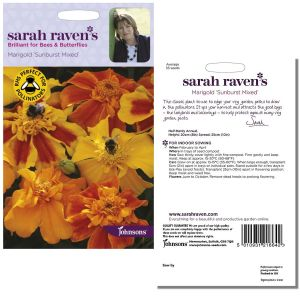 Sarah Raven's Marigold 'Sunburst Mixed' Seeds by Johnsons