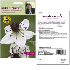 Sarah Raven's Nigella 'African Bride' Seeds by Johnsons